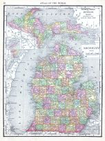 Michigan, World Atlas 1913